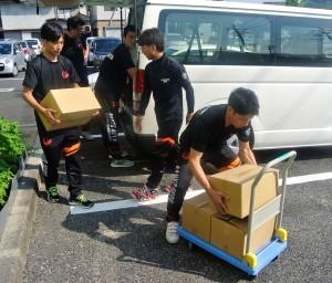 支援物資を笠岡市へ2
