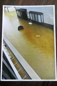 矢掛町災害当日の写真接写