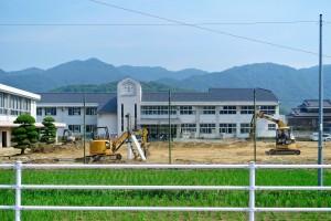 矢掛町被災した小学校